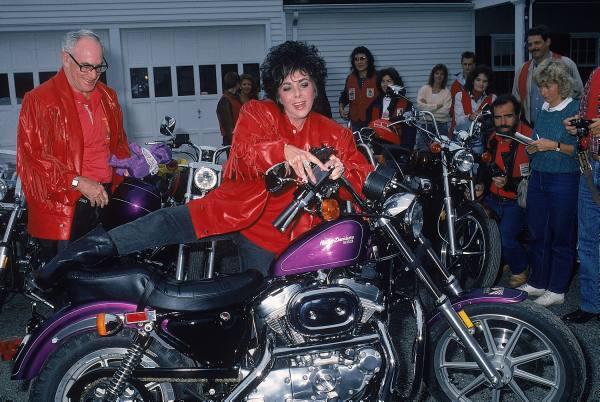 Liz taylor 87 motorbike